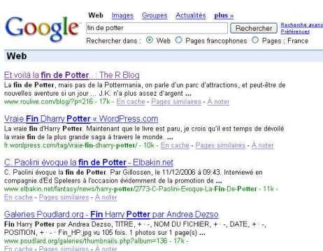 la fin de Potter